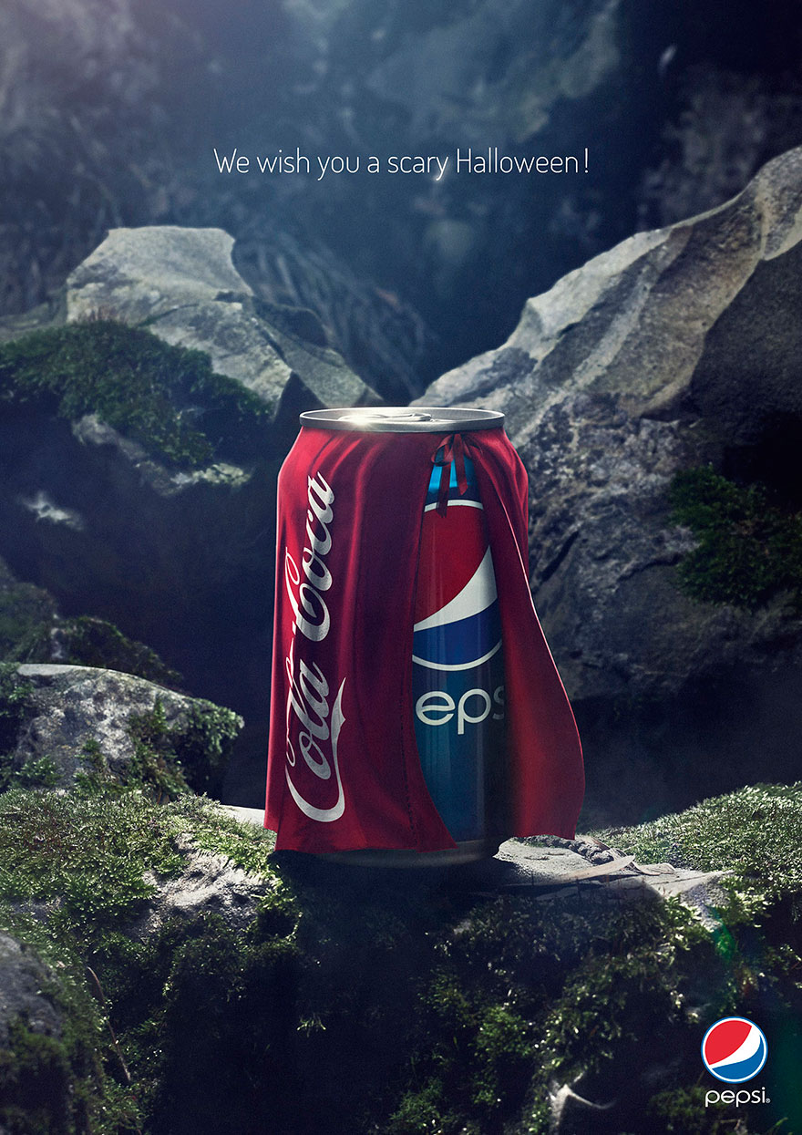 Pepsi Ad Teases Coca-Cola With Funny Halloween Campaign.
