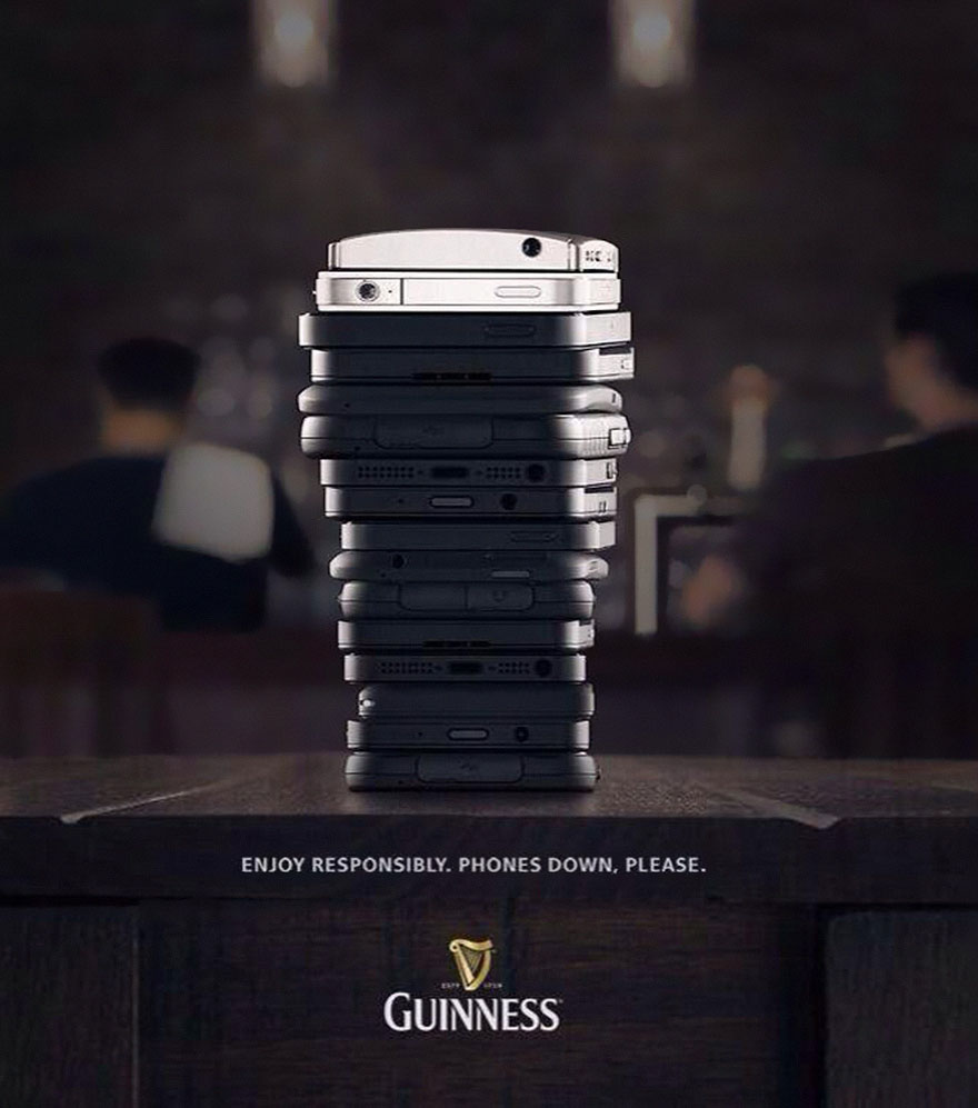 Guinness Ad Says Put Phones Down And Enjoy Drinks
